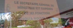 Le secrétaire général et la directrice sont suspendus